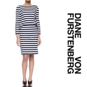 Diane Von Furstenberg Stripe Skirt and Top Set 6